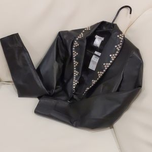 NWT Cache leather jacket